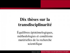 dixthesestransdisciplinarite