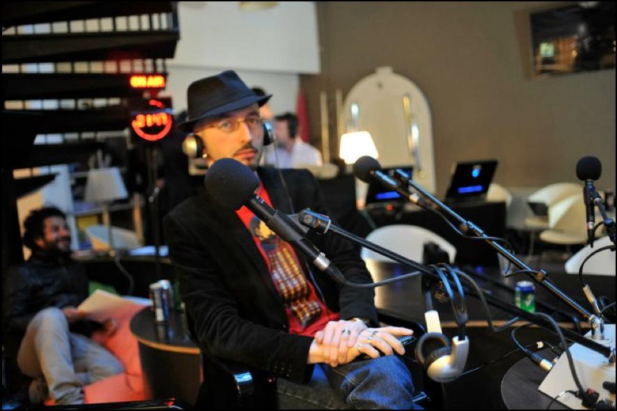 Antonio A. Casilli dans le studio de Silicon Radio 23 juin 2011