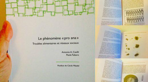 """Dernier ouvrage : """"Le phénomène """"pro-ana'. Troubles alimentaires et réseaux sociaux"""" (Oct. 2016)"""